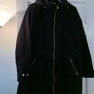 Athleta women's black raincoat